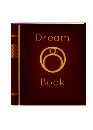 Dream Book Icon - crafting gold with text